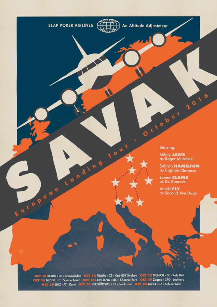 European Landing tour poster